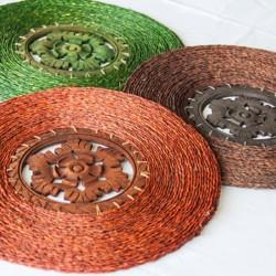 Wooden Dish Mat(small) (1)